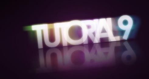 Colorful glowing text effect Photoshop lesson