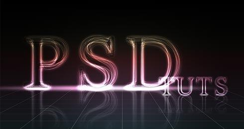 Create a glowing text effect in Adobe Photoshop