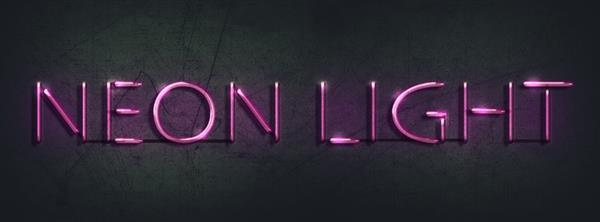 Create an easy neon light text effect in photoshop