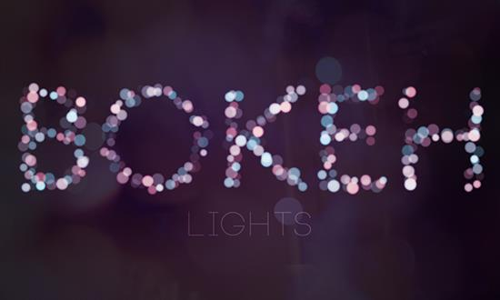 How to Create Bokeh text effect in Adobe Photoshop