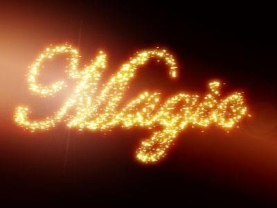 Magic Glowing Sparkles Photoshop Text Effect