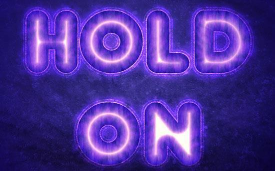 Purple glow text effect in Photoshop