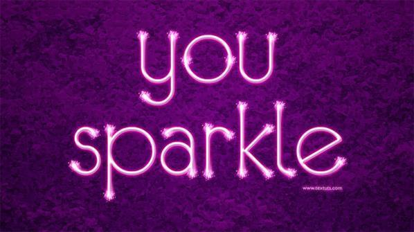 Sparkling text effect in Photoshop