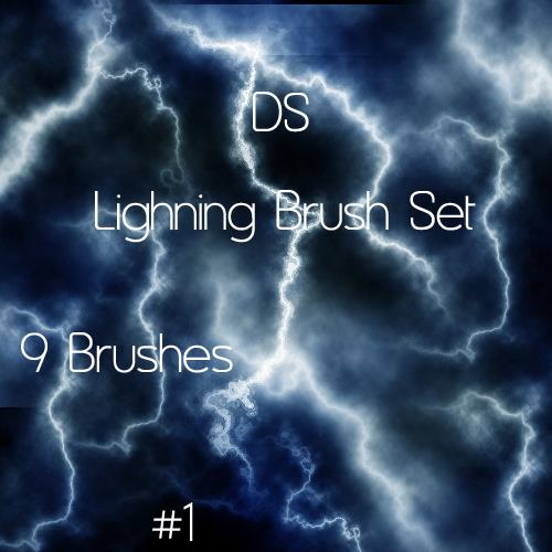 Lightning Brush Set 1 by Dudeshibby photoshop resource collected by psd-dude.com from deviantart