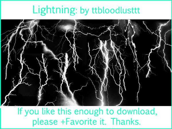Lightning effect brushes for Photoshop