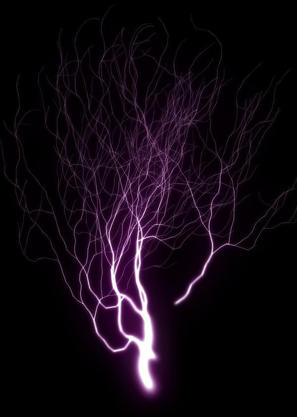 Lightning strike texture