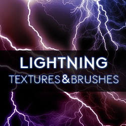 Lightning Textures and Brushes for <span class='searchHighlight'>Photoshop</span> psd-dude.com Resources