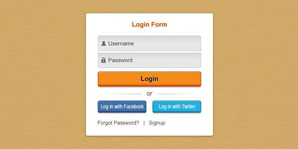 Clean Login Template PSD