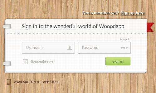Sign-in and Sign-out Wooden PSD Forms