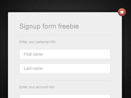 Simple Clean Login Box PSD