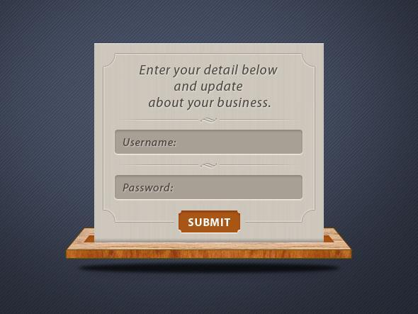 Stylish Login Box PSD