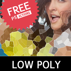 Low Poly Photoshop Free Action psd-dude.com Resources