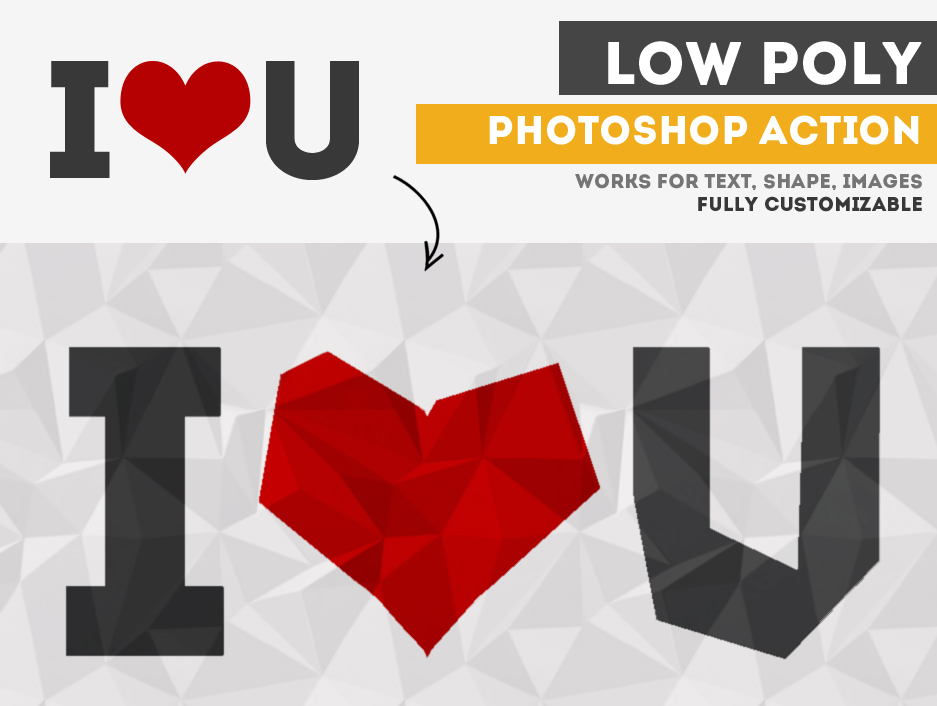 Low Poly Action Photoshop Plugin