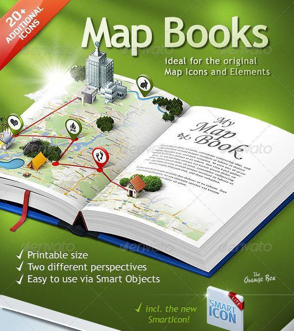 3d map photoshop creator premium files psddude 3d map photoshop book template gumiabroncs Gallery
