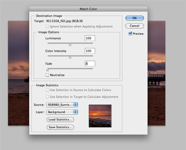 How to use Match Color adjustment in Photoshop