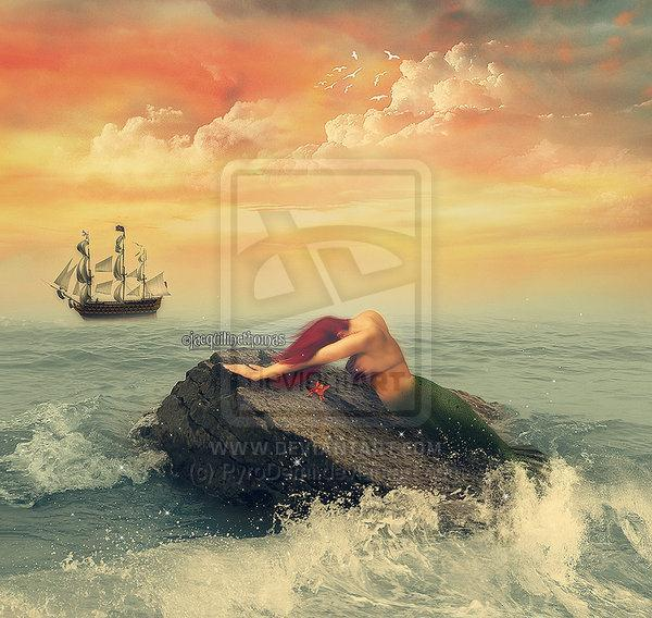 Fairy tale The Little Mermaid Photo Manipulation