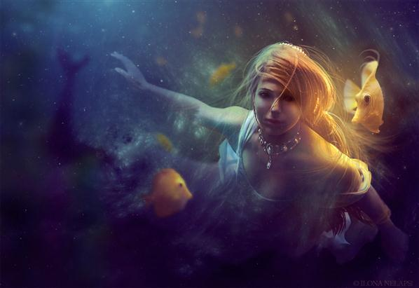 Golden Mermaid Photo Manipulation