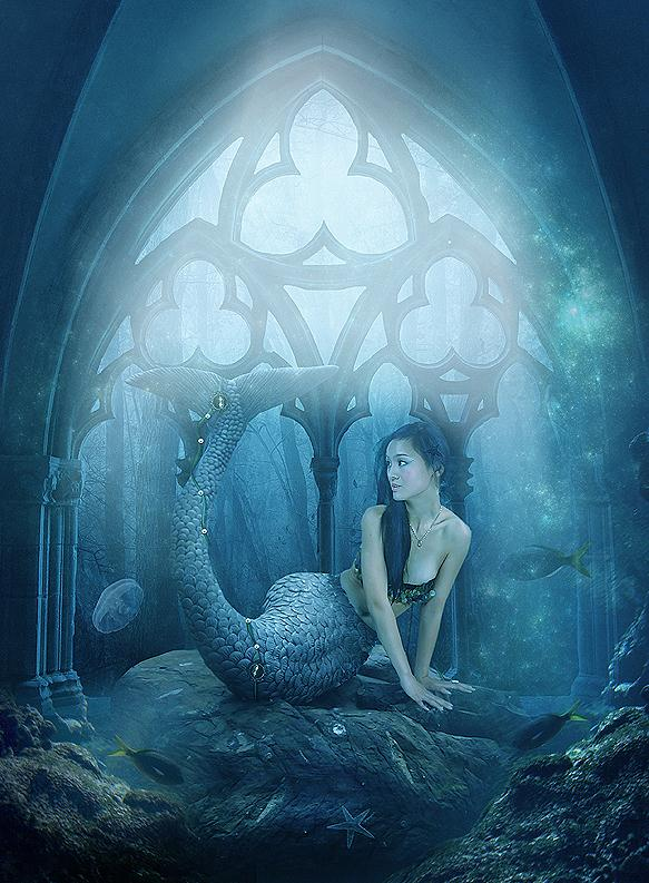 Little Mermaid Photoshop Manipulation