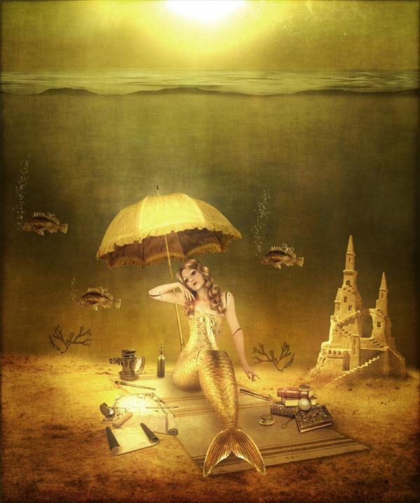 Mermaid Doll Photo Manipulation