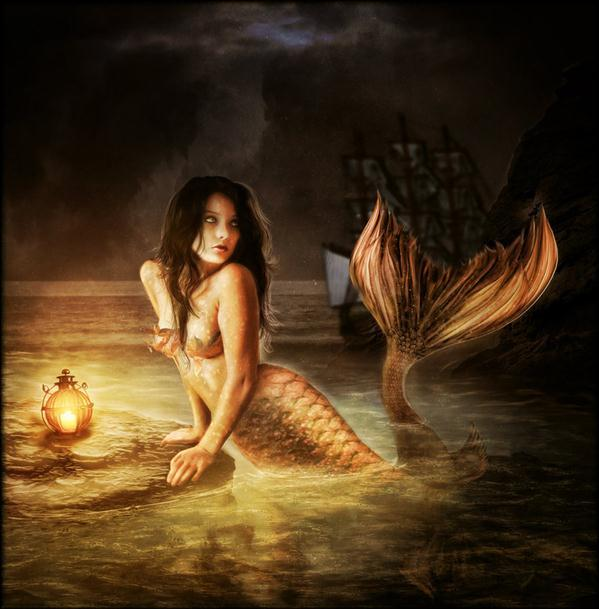 Mermaid Goodbye Photo Manipulation
