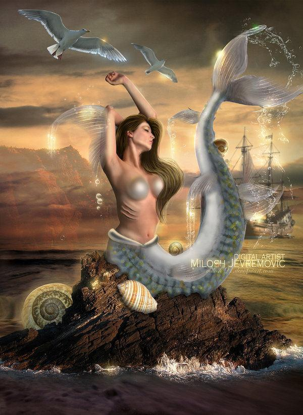 Mermaid on the Beach Photo Manipulation