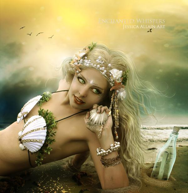 Sunset Beach Mermaid Photo Manipulation
