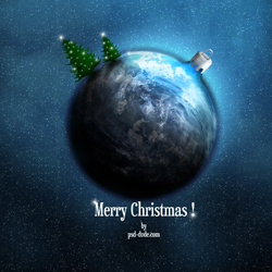 Xmas Space Theme Wallpaper for Your Desktop psd-dude.com Resources