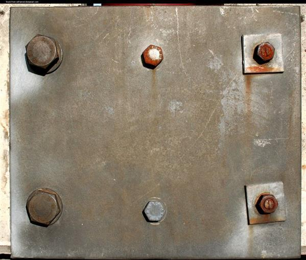 Metal Plate Texture with Bolts