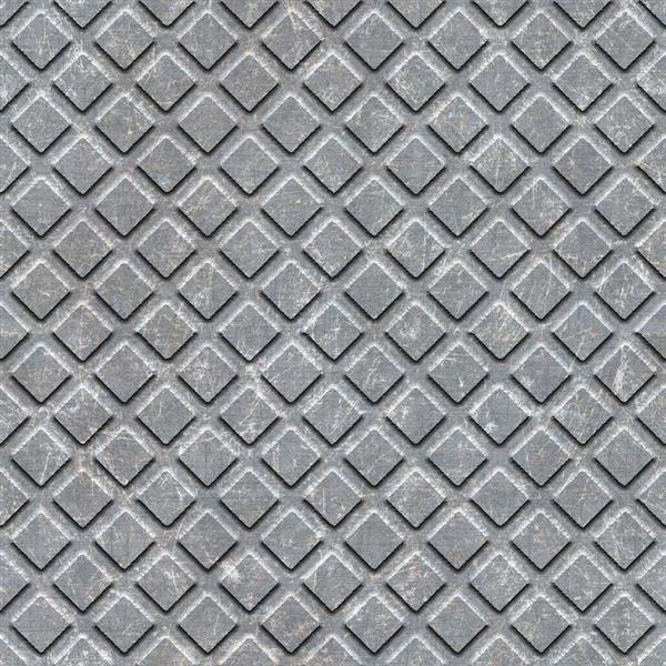 Seamless metal plate pattern