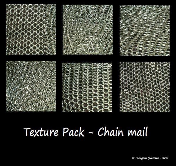 Texture Pack Chainmail by rockgem photoshop resource collected by psd-dude.com from deviantart