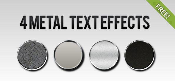 4 Metal Photoshop Text Styles - Free