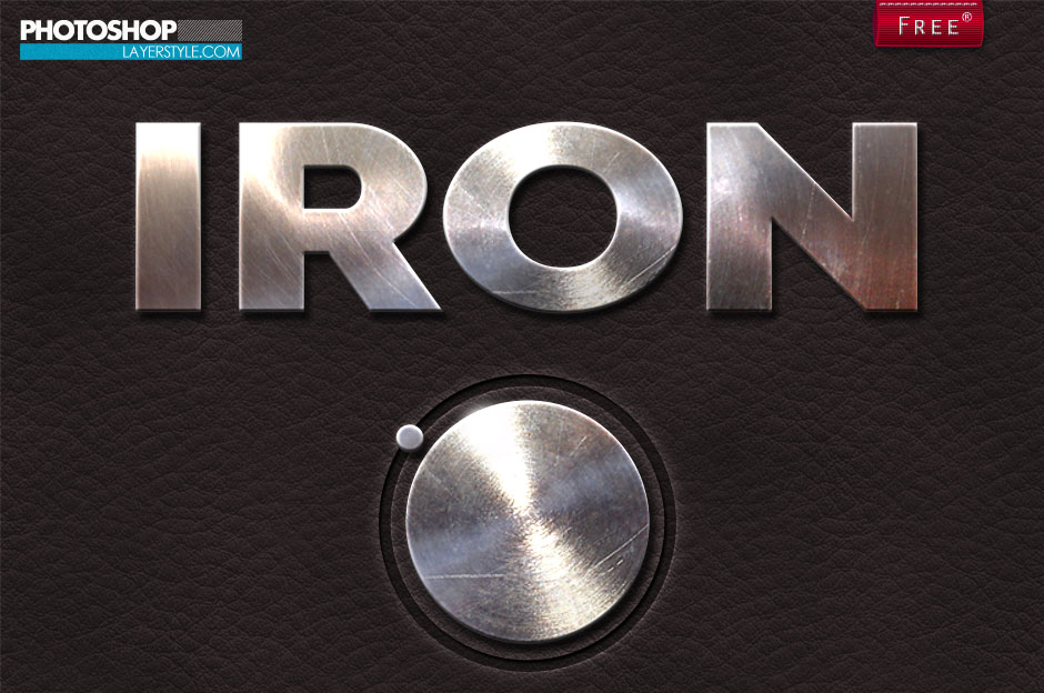 Iron Font Photoshop Metal Iron Photoshop Style