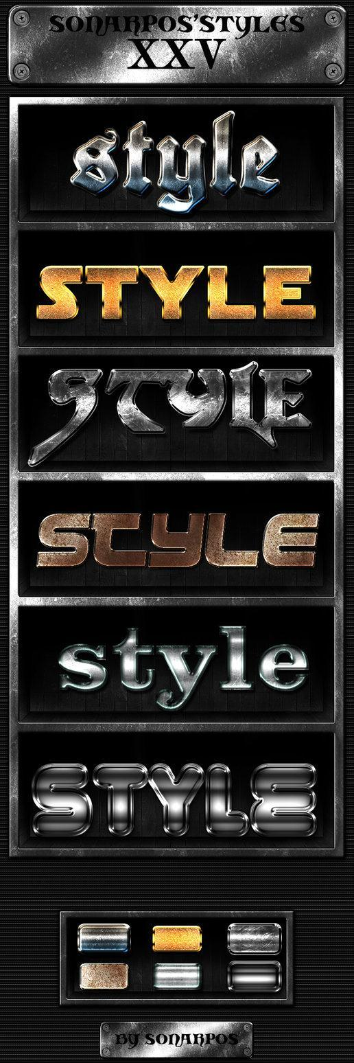 Grunge Metal Photoshop Layer Styles - Free