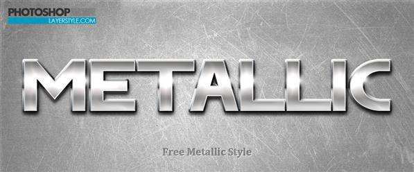 Metallic Photoshop Style - Free