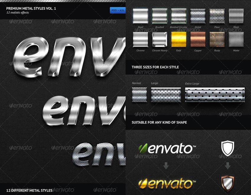 Photoshop Metal Styles - Premium