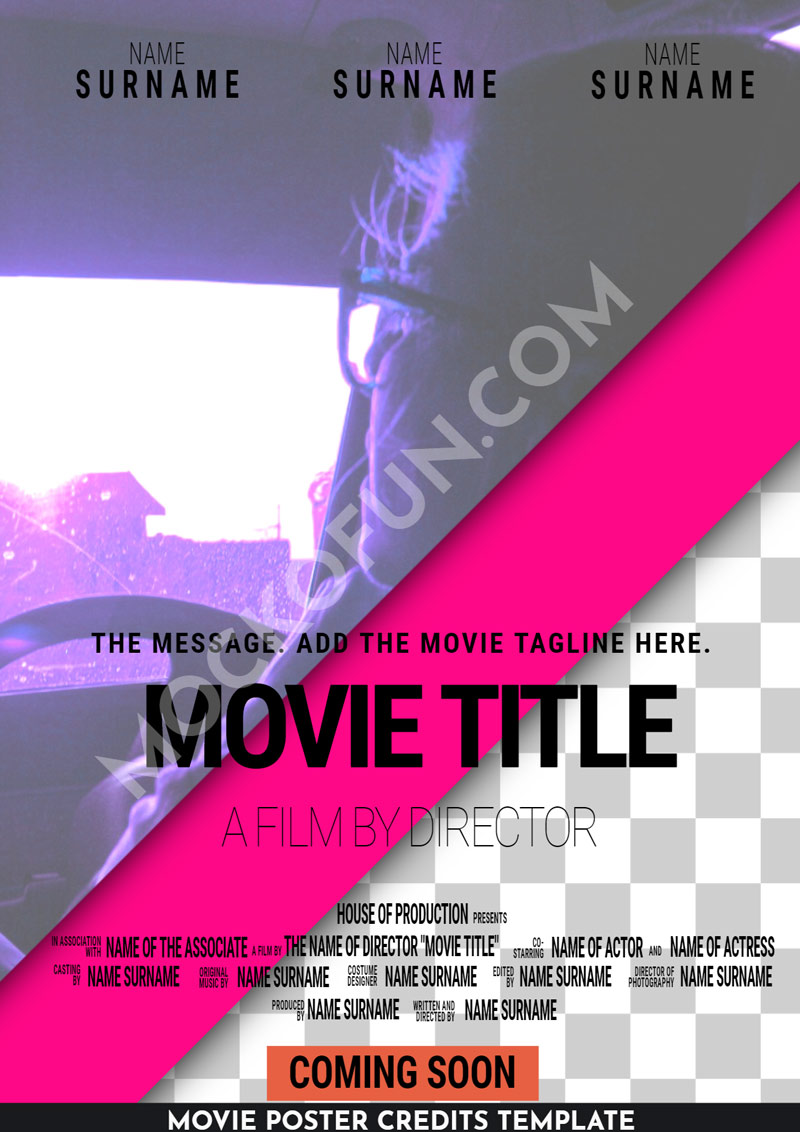 Movie Poster Credits PNG