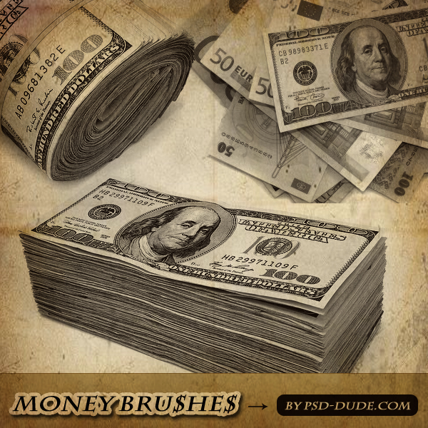 Photoshop Money Brushes by psd-dude.com