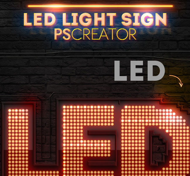 neon sign mockup