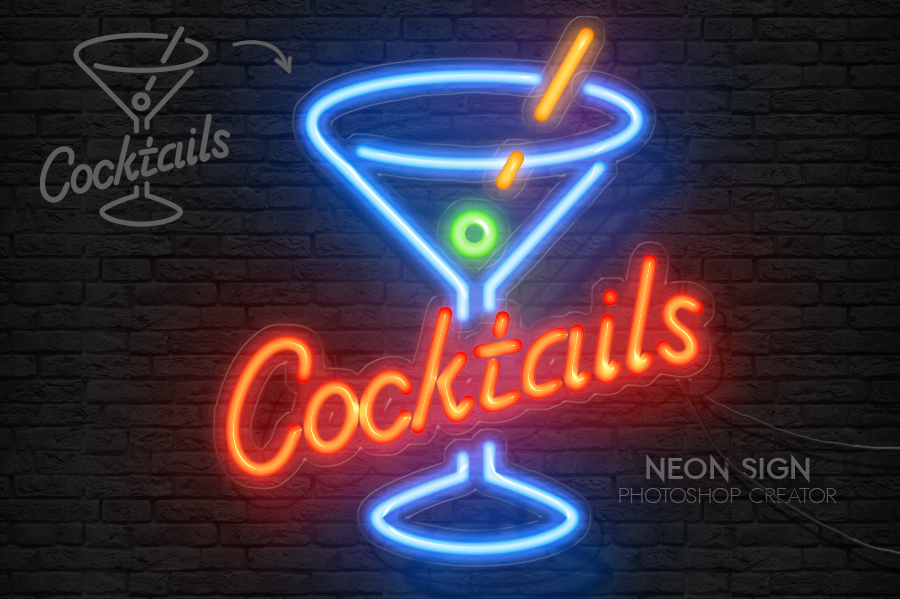 Photoshop Neon Styles and Neon PSD Mockups | PSDDude