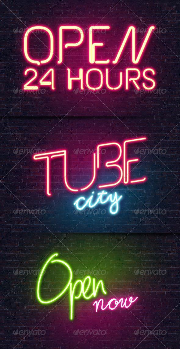 Photoshop Neon Lights