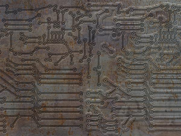 Rusty Electric Circuit Free Texture