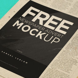 Newspaper PSD Mockups Brushes and Textures psd-dude.com Resources