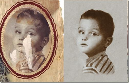 Repair Damaged Old Pictures Photoshop Tutorial