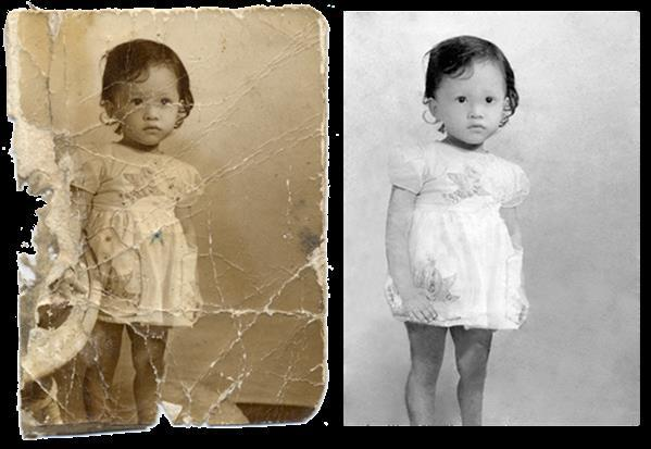 Repair Old Images with Scratches and Tears in Photoshop