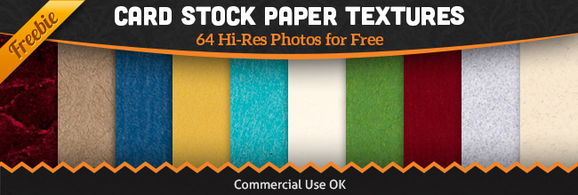 Free Paper Texture Pack - 64 Card Stock Photos