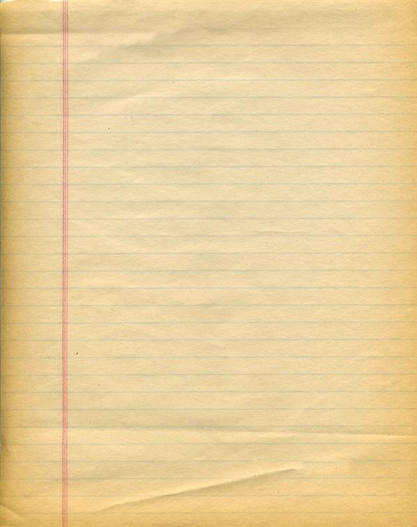 Old Notebook Paper Background Texture