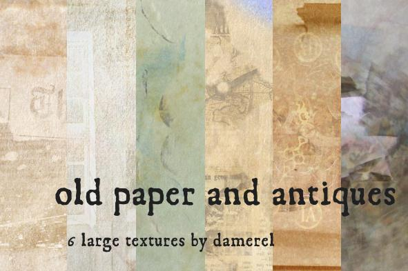 Old paper and antique textures collection