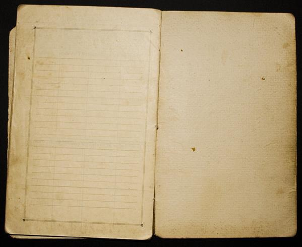 Old yellowed paper diary