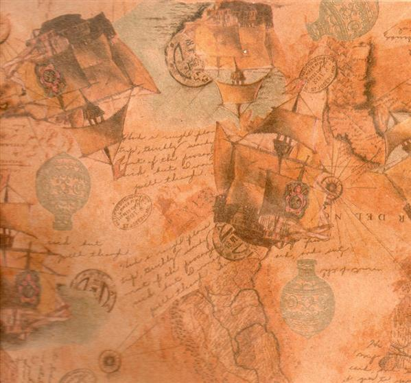 Vintage Map on Paper Texture