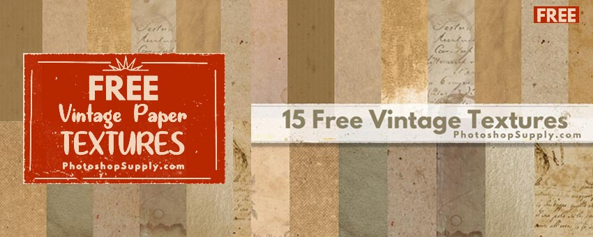 15 Free Vintage Paper Textures